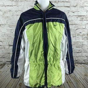 Women's Nike Windbreaker Jacket Size M Track Green